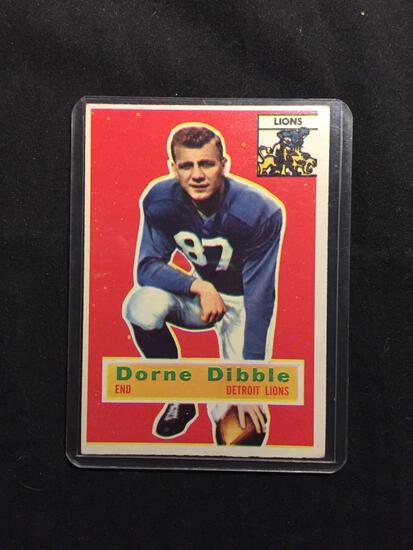 1956 Topps #32 DORNE DIBBLE Lions Vintage Football Card