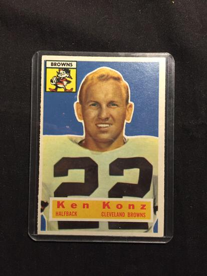 1956 Topps #33 KEN KONZ Browns Vintage Football Card