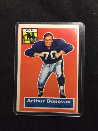1956 Topps #36 ARTHUR DONOVAN Colts Vintage Football Card