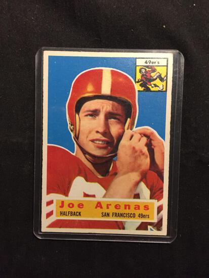 1956 Topps #38 JOE ARENAS 49ers Vintage Football Card