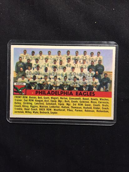 1956 Topps #40 PHILADELPHIA EAGLES Team Card Vintage Football Card