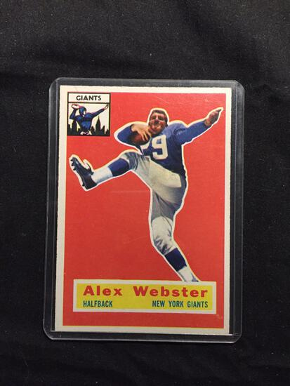 1956 Topps #5 ALEX WEBSTER Giants Vintage Football Card