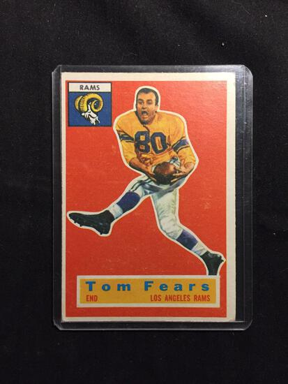 1956 Topps #42 TOM FEARS Rams Vintage Football Card