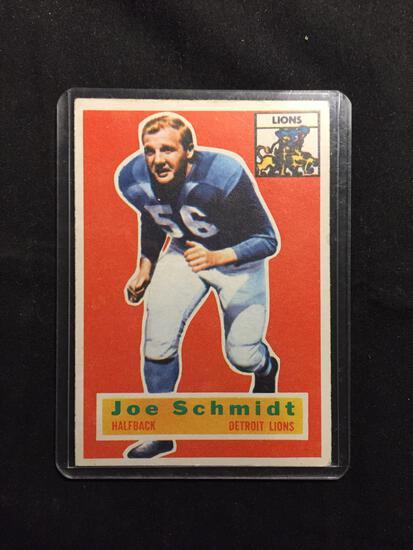 1956 Topps #44 JOE SCHMIDT Lions Vintage Football Card