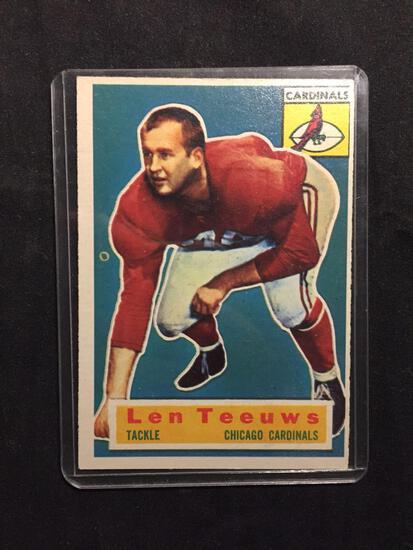 1956 Topps #46 LEN TEEUWS Cardinals Vintage Football Card