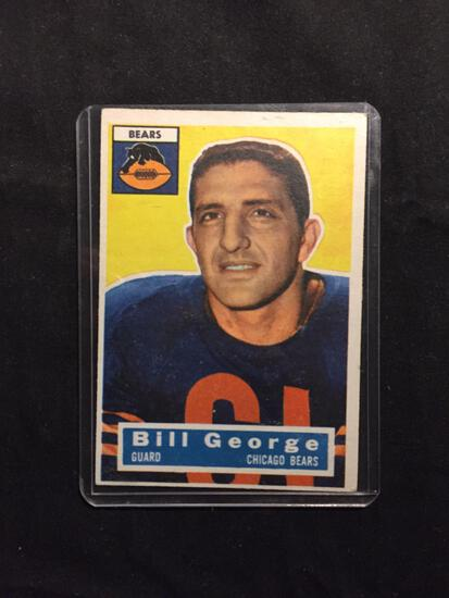 1956 Topps #47 BILL GEORGE Bears Vintage Football Card