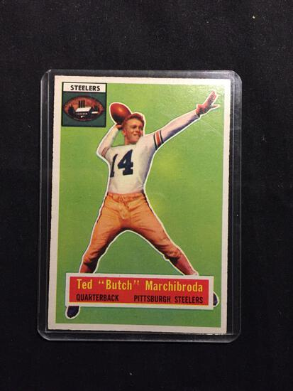 1956 Topps #51 TED MARCHIBRODA Steelers Vintage Football Card