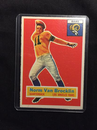 1956 Topps #6 NORMAN VAN BROCKLIN Vintage Football Card