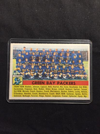 1956 Topps #7 GREEN BAY PACKERS Team Card Vintage Football Card