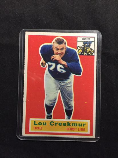 1956 Topps #8 LOU CREEKMUR Lions Vintage Football Card