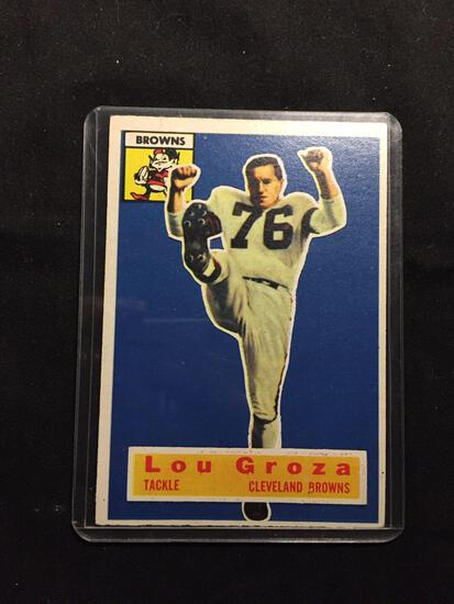 1956 Topps #9 LOU GROZA Browns Vintage Football Card