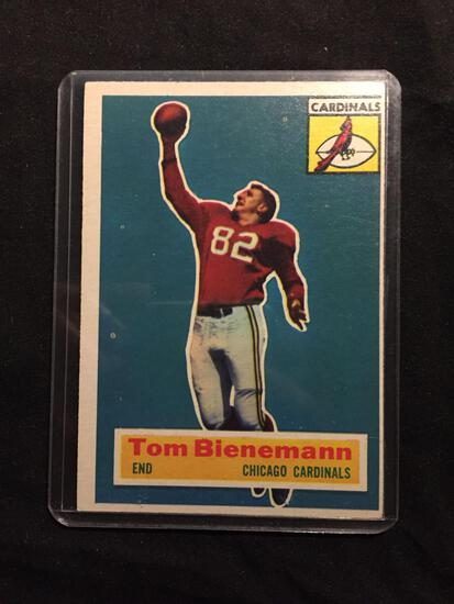 1956 Topps #10 TOM BIENEMANN Cardinals ROOKIE Vintage Football Card