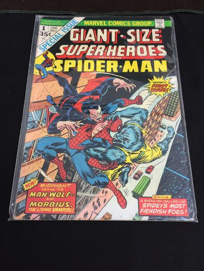 Marvel Giant Size Super Heroes Featuring Spider Man #1 June 1974 Vintage - Special Issue