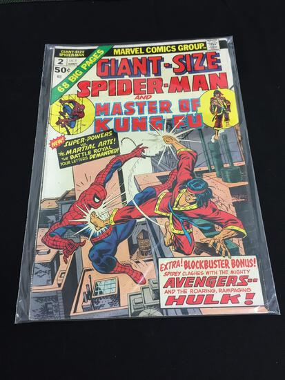 Marvel Giant-Size Fantastic Four #2 OCT 1974 Spiderman and Master of Kung-Fu