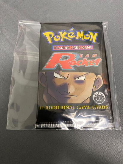 Factory Sealed Pokemon TEAM ROCKET 1st Edition Booster Pack