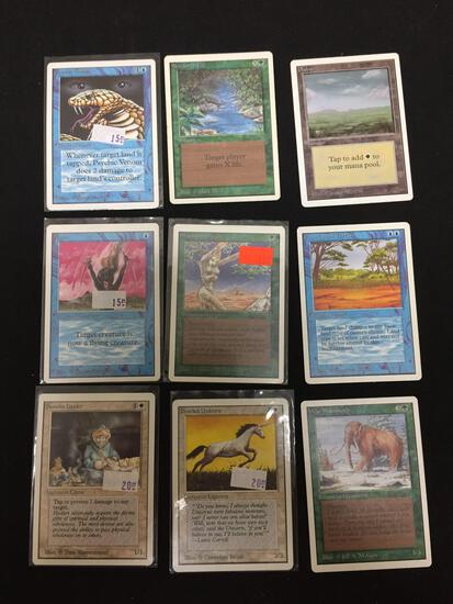 Lot of 9 MTG Magic the Gathering UNLIMITED Trading Cards from Collection
