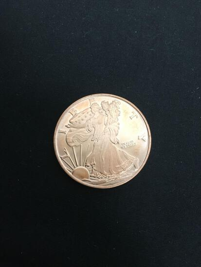 Walking Liberty Style 1 Ounce Copper Rounds
