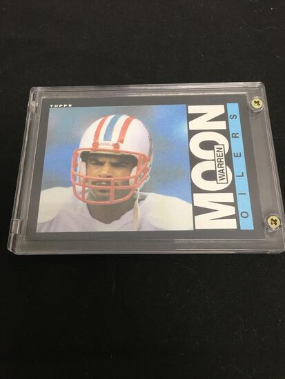 1985 Topps #251 WARREN MOON Oilers Seahawks ROOKIE Football Card