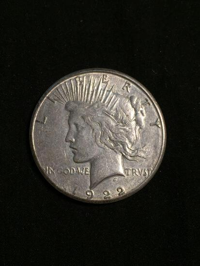 1922-S United States Peace Silver Dollar - 90% Silver Coin
