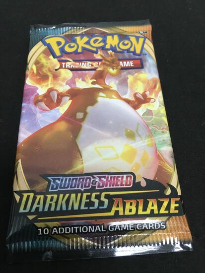 POKEMON Sword & Shield Darkness Ablaze Factory Sealed Booster Pack 10 Game Cards