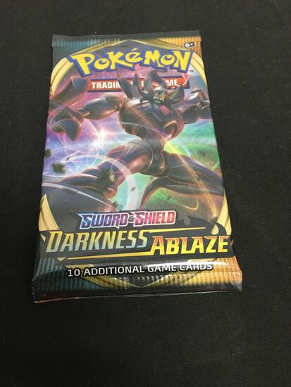 Factory Sealed DARKNESS ABLAZE 10 Pokemon Card Booster Pack from Box Break