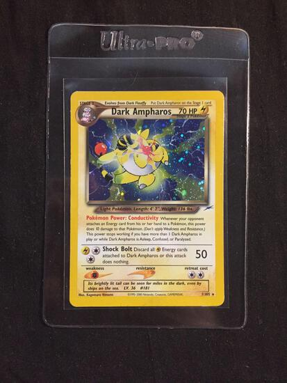 Neo Destiny High End Pokemon Card Dark Ampharos 1/102 Holo Rare