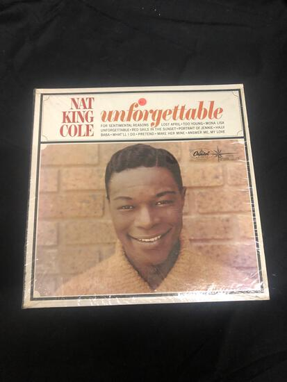 Nat King Cole Unforgettable Vintage Vinyl LP Record from Collection