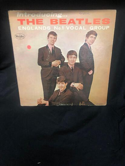 Introducing?The Beatles Englans No. 1 Vocal Group Vintage Vinyl LP Record from Collection