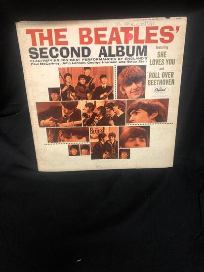 The Beatles' Second Album Vintage Vinyl LP Record from Collection