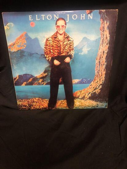 Elton John Caribou Vintage Vinyl LP Record from Collection