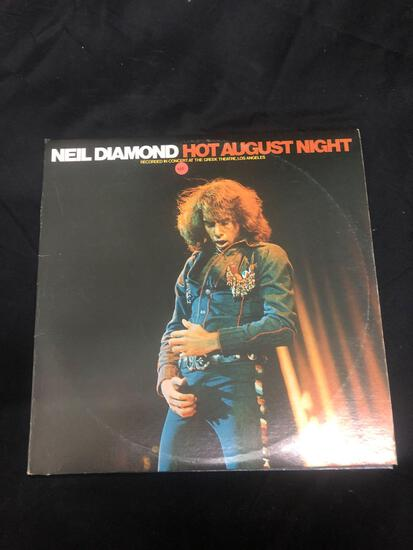 Neil Diamond Hot August Night Vintage Vinyl LP Record from Collection