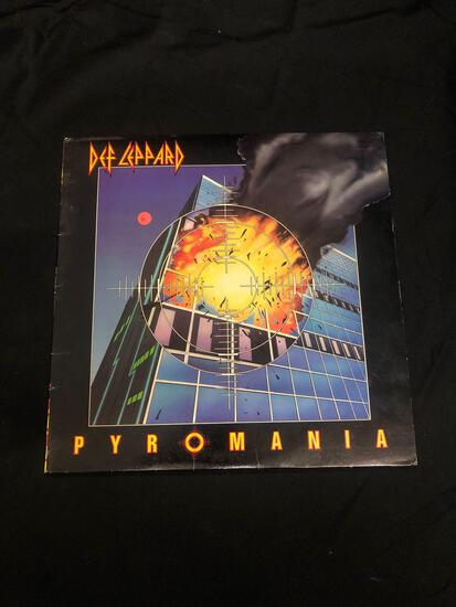 Def Leppard Pyromania Vintage Vinyl LP Record from Collection