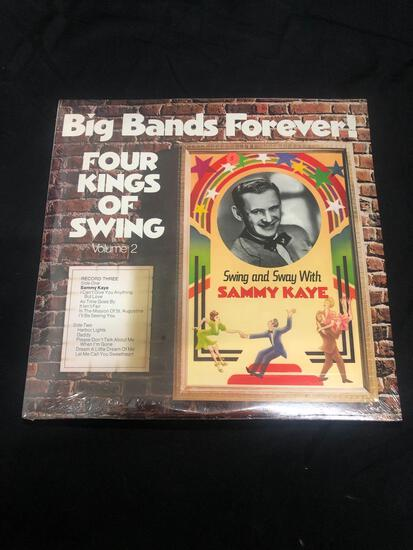 Big Bands Forever Four Kings of Swing Volume 2 Sealed Vintage Vinyl LP Record from Collection