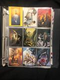 Binder of Various Trading Cards Magnificent Myths, US Oympic Cards