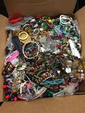 Large Box of Mixed Jewelry, Wearable, Parts, Etc
