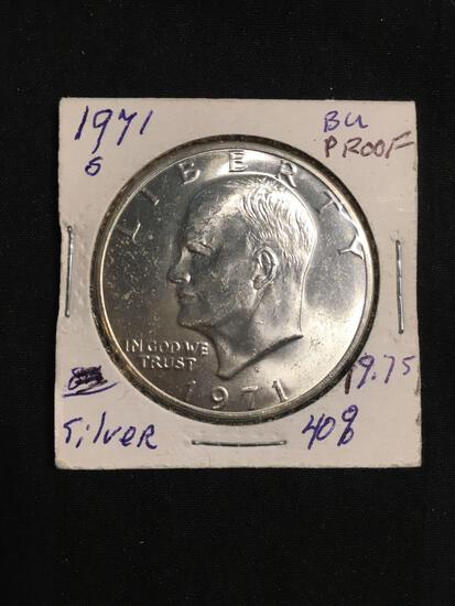 1971-S United States Eisenhower Proof 40% Silver Dollar Coin