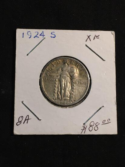 1924-S United States Standing Liberty Silver Quarter - 90% Silver Coin
