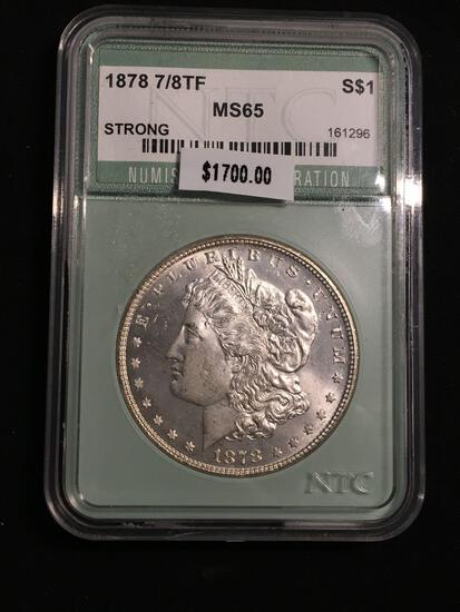 1878 United States Morgan Silver Dollar - NTC Graded MS 65