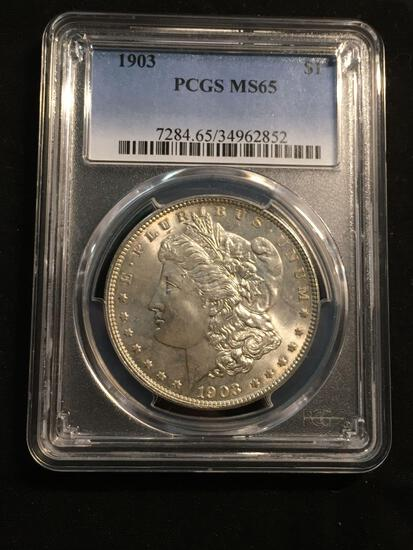 1903 United States Morgan Silver Dollar - PCGS Graded MS 65
