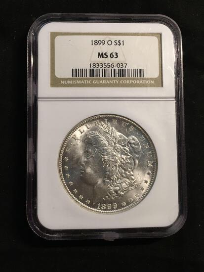 1889-O United States Morgan Silver Dollar - NGC Graded MS 63