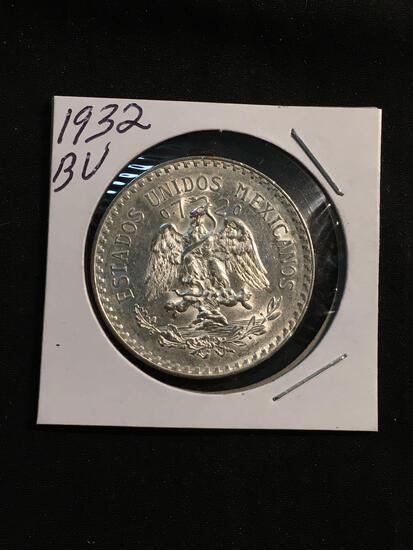 1932 Mexico 1 Peso Silver Foreign Coin