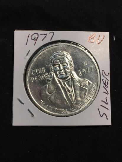 1977 Mexico 20 Pesos Silver Foreign Coin
