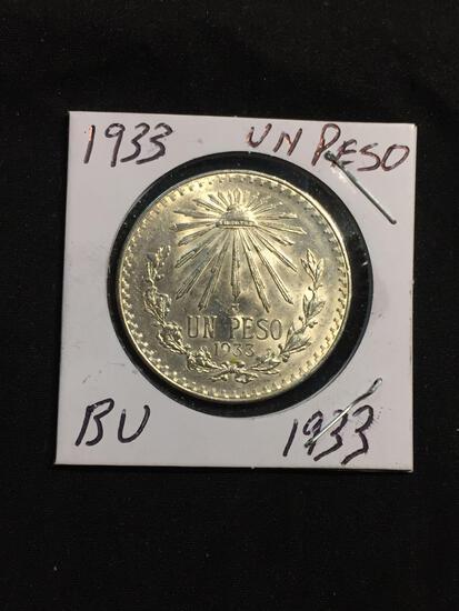 1933 Mexico 1 Peso Silver Foreign Coin