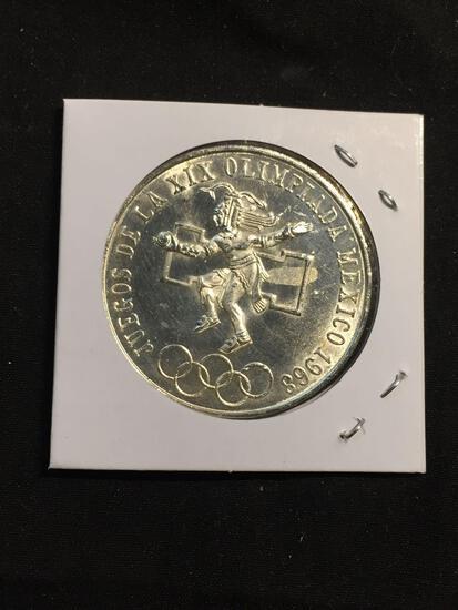 1968 Mexico 25 Pesos Silver Foreign Coin