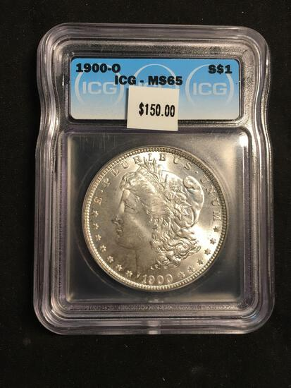 1900-G United States Morgan Silver Dollar - ICG MS 65 Graded