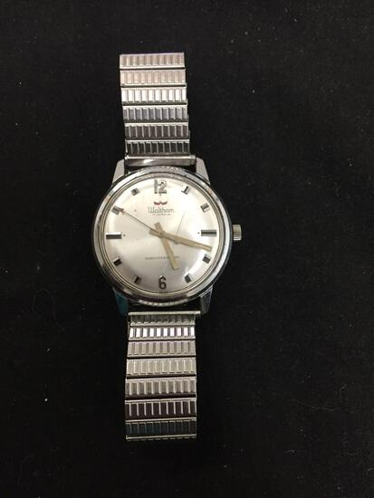 Waltham Designer 17 Jewels Collection Round 30mm Bezel Stainless Steel Watch w/ Bracelet