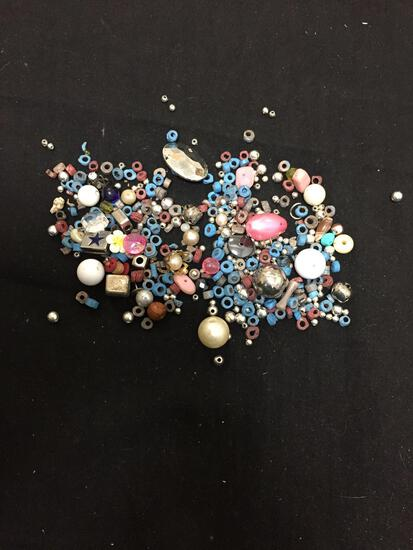 Lot of Various Size & Style Loose Jewelry Beads