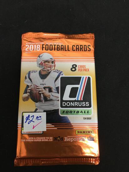 Factory Sealed 2018 Donruss NFL Football 8 Card Pack - LAMAR JACKSON RC?