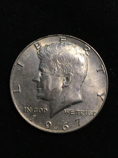 United States 1967 Kennedy Half Dollar - 40% Silver Coin - 0.147 ASW