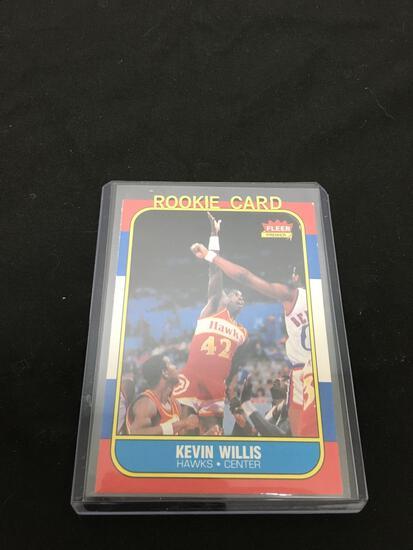 1986-87 Fleer #126 KEVIN WILLIS Hawks Vintage ROOKIE Basketball Card